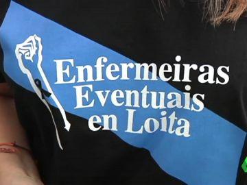 Los gallegos visten de luto para presentarse a las oposiciones de enfermería en protesta por sus condiciones laborales