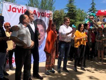 Carmen Calvo durante un acto del PSOE en Fuenlabrada