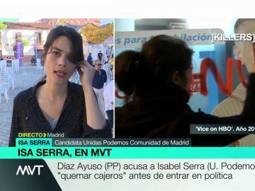"""Isabel Serra, sobre el vídeo en el que aparece pintando cajeros: """"Hoy hago política desde las instituciones, pero sigo apoyando la lucha contra los abusos de los bancos"""""""