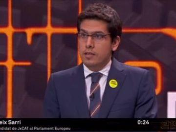 Aleix Sarri, representante de JxCat en el debate de TV3