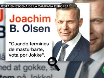Un anuncio electoral de un diputado danés colgado en una web porno