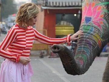 Ágatha Ruiz de la Prada, en India