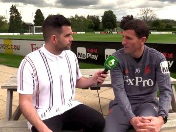 """José Álvarez con Javi Gracia, el entrenador del mejor Watford de la historia: """"El conseguir estos resultados es un trabajo de mucha gente"""""""