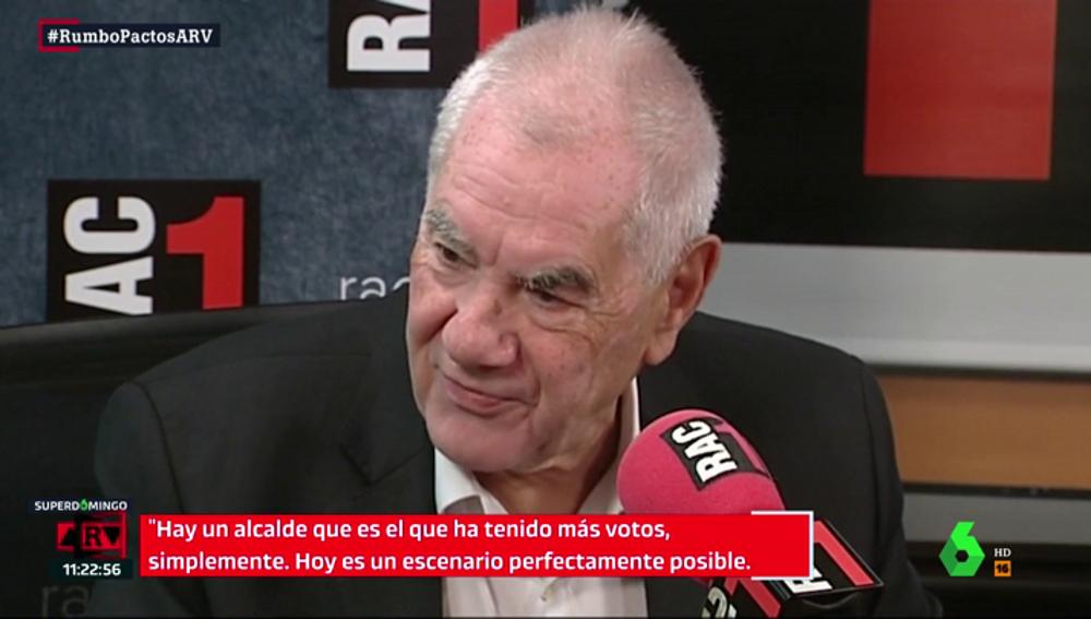 Maragall ve poco creíble la opción de un acuerdo entre Colau, Collboni y Valls en Barcelona