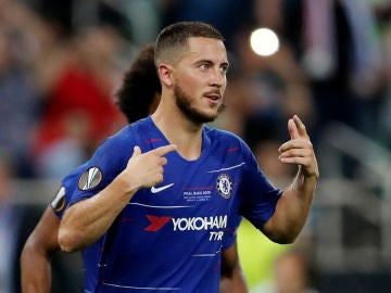 Eden Hazard, en un partido con el Chelsea