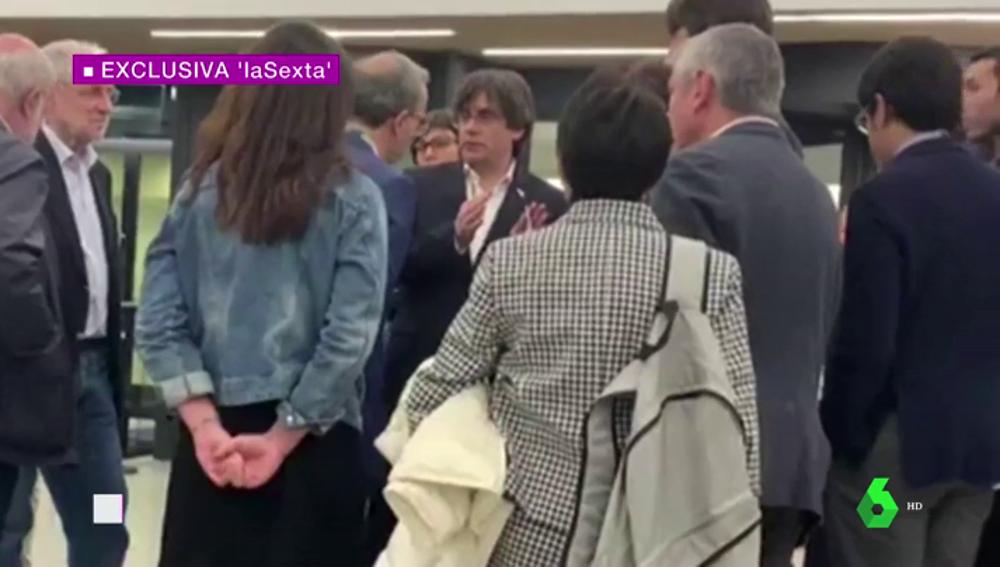 Puigdemont envía una carta de queja a Tajani después de que se impidiese su entrada en el Parlamento Europeo