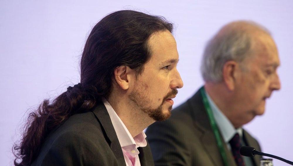 Iglesias en la reunión del Círculo de Economía de Sitges.