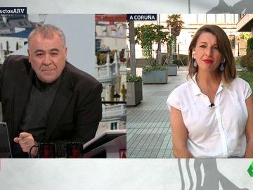 Antonio García Ferreras y Yolanda Díaz, nueva ministra de Trabajo (Archivo)