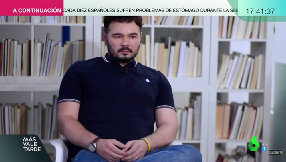Gabriel Rufián en una entrevista