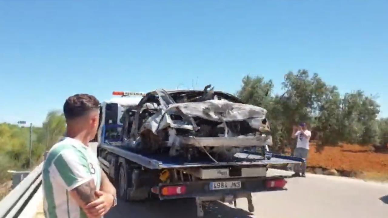Así quedó el coche de José Antonio Reyes tras el accidente