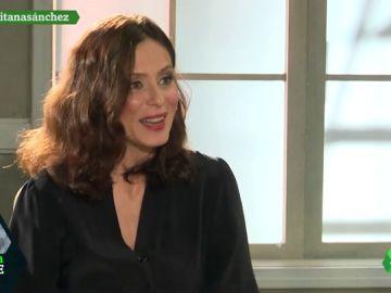 Aitana Sánchez-Gijón en una entrevista en laSexta Noche