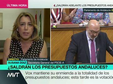 """Susana Díaz: """"Los andaluces no merecemos que nuestros presupuestos estén en manos de la extremaderecha"""""""