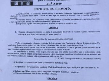 Examen de Selectividad suspendido en Galicia
