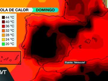 El mapa del infierno: así evolucionarán las temperaturas en los próximos días