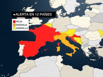 Europa es un horno: 12 países están en alerta roja por las altas temperaturas