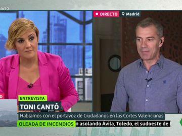 """Toni Cantó: """"Ciudadanos dijo no a Pedro Sánchez y no vamos a faltar a nuestro compromiso"""""""