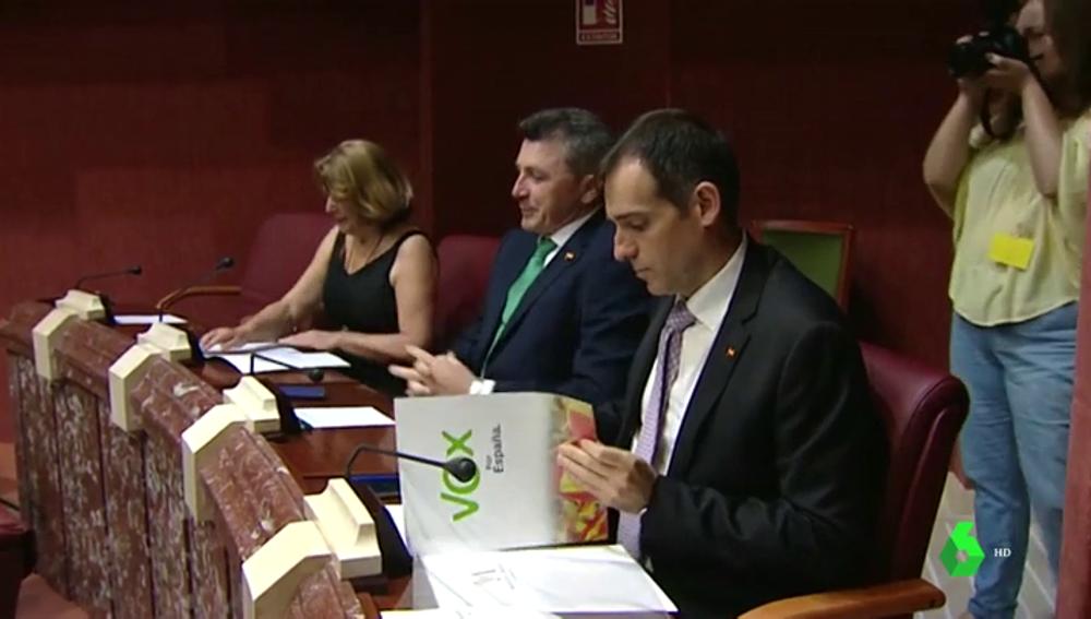 Vox asegura que votará en contra de la investidura de López Miras en Murcia