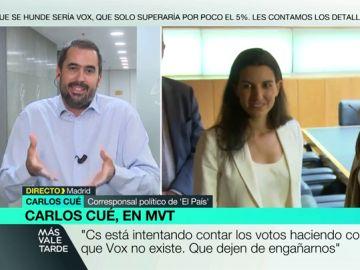 """Carlos Cué: """"Ciudadanos está haciendo como que Vox no existe mientras gobierna en ayuntamientos gracias a sus votos"""""""