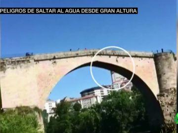 Saltar desde un puente al agua puede dejarte inconsciente de 'un planchazo'
