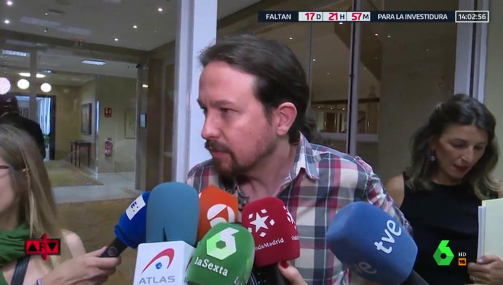 """Iglesias: """"Más temprano o más tarde el PSOE negociará con nosotros un gobierno de coalición"""""""