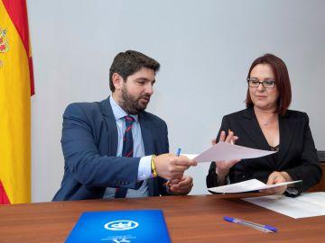 López Miras y la diputada de Ciudadanos