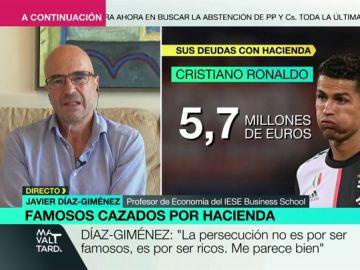 """Javier Díaz-Gimenéz: """"Hacienda debería dar ejemplo con los ricos que no cumplen y nos pasan su carga fiscal al resto"""""""