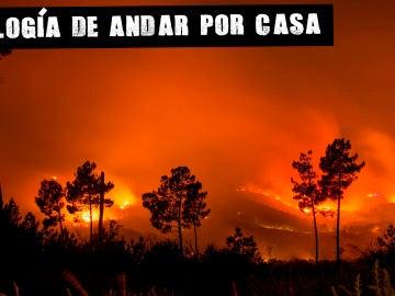 Incendio en Monterrei, Galicia, en 2018