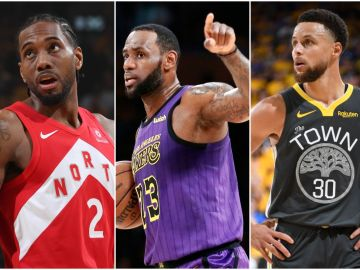 Leonard, LeBron James y Curry
