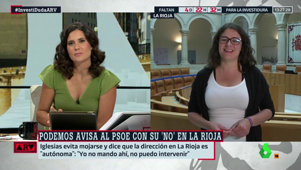 Raquel Romero (Podemos) niega que pidiera tres consejerías para apoyar a la candidata socialista en La Rioja