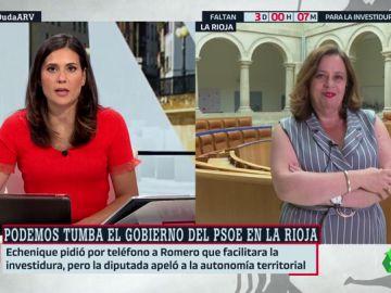 """Henar Moreno, Izquierda Unida: """"El PSOE (en La Rioja) estuvo desde el minuto uno dispuesto a negociar las políticas"""""""