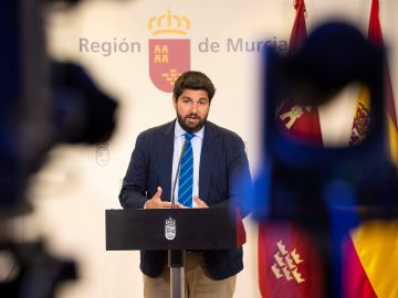 El presidente en funciones de la Comunidad de Murcia, Fernando López Miras
