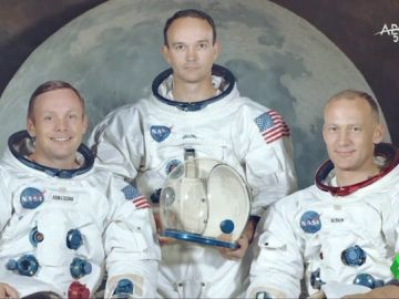 Los tres astronautas del Apolo 11
