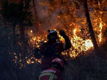 Imagen de un incendio en Portugal