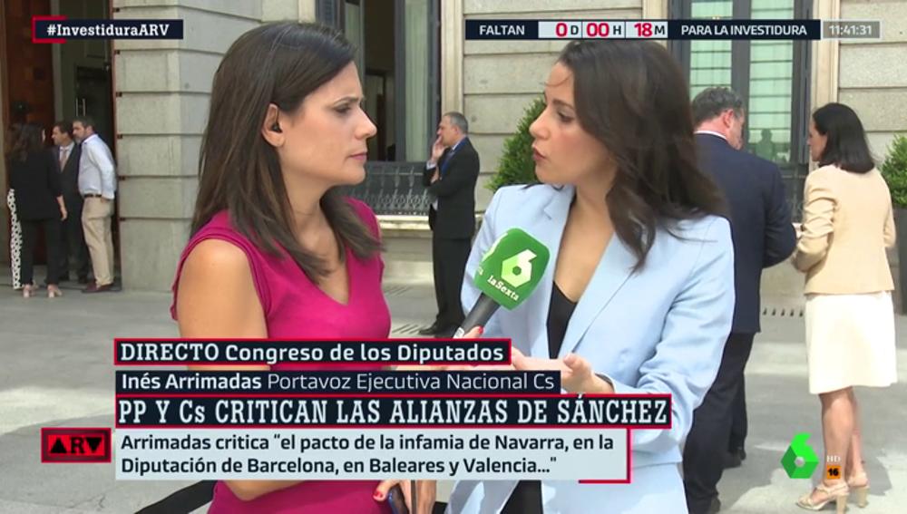 """Inés Arrimadas: """"No hay partido que modere a Pedro Sánchez. No quiere hacer un pacto alternativo"""""""