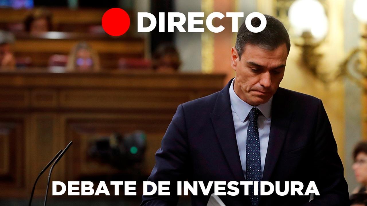 Debate de investidura de Pedro Sánchez en directo desde el congreso de los diputados
