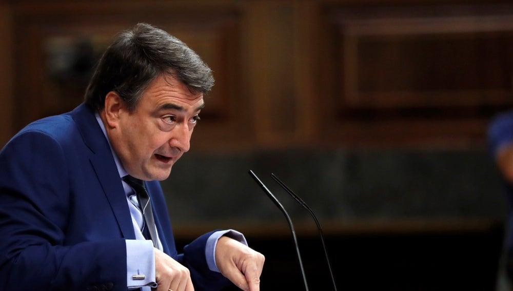 El portavoz del Partido Nacionalista Vasco en el Congreso de los Diputados, Aitor Esteban