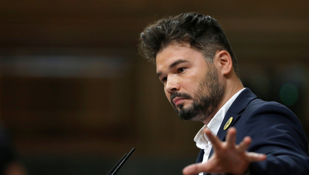 El portavoz de ERC, Gabriel Rufián (Archivo)