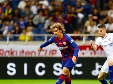 Griezmann, en su debut con el FC Barcelona