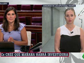 """Melisa Rodríguez (Ciudadanos): """"Si Sánchez sigue la tónica de dejar de respirar cuando algo no le guste, las negociaciones van a ser difíciles"""""""