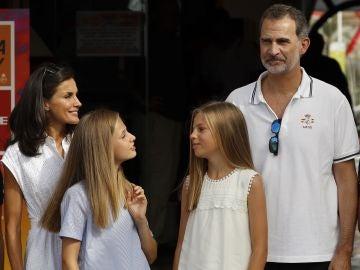 La Familia Real en el Club Náutico de Palma