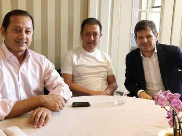 Murthy, Lim y Alemany, en Singapur