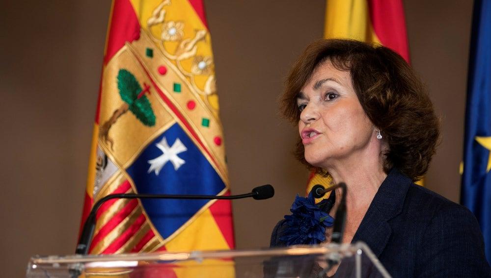 La vicepresidenta del Gobierno de España en funciones, Carmen Calvo