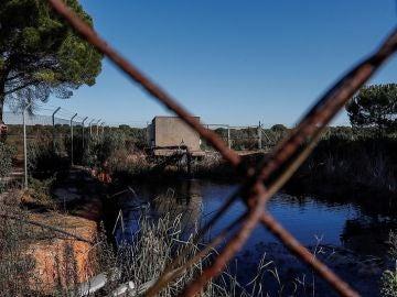 Balsa de riego ilegal construida cerca de algunos de los 77 pozos de Lucena del Puerto.