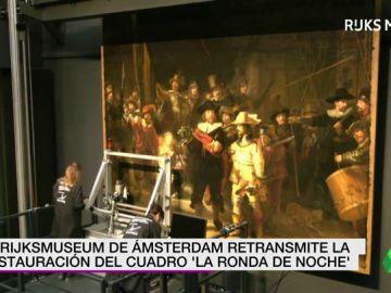 El Rijksmuseum de Ámsterdam retransmite en directo la restauración de uno de los cuadros más importantes de Rembrandt