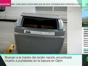 La autopsia del bebé encontrado muerto en Gijón revela que fue asesinado a puñaladas nada más nacer