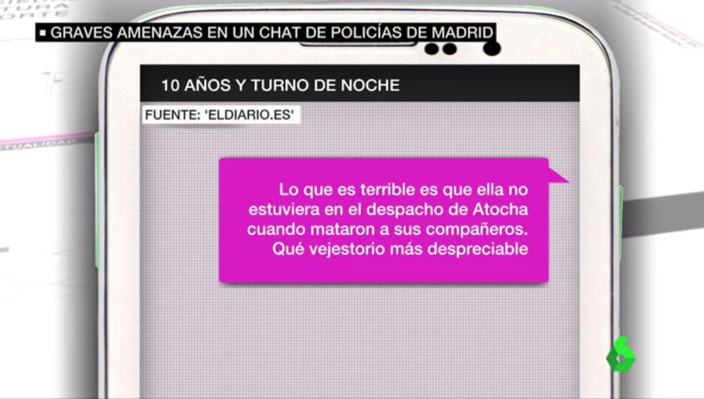 """""""Vejestorio despreciable"""", """"zorra vieja"""": un juzgado investiga los insultos y amenazas a Carmena en un chat de policías de Madrid"""