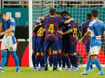 Victoria del FC Barcelona frente al Nápoles