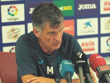 José Luis Mendilibar habla con los medios