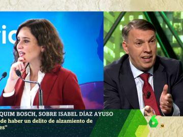 """Joaquím Bosch, sobre Díaz Ayuso: """"Pudo haber una conducta fraudulenta y quizás delictiva, pero es posible que los hechos hayan prescrito"""