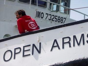 Óscar Camps, en el Open Arms